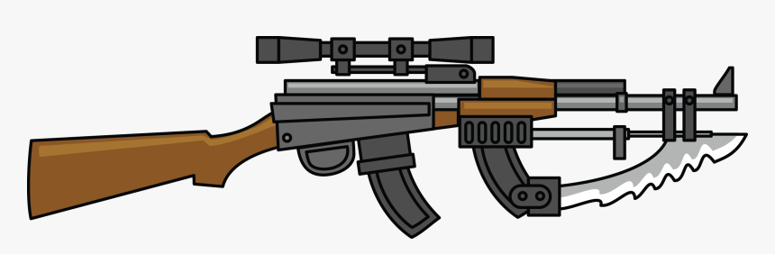 Free To Use Public Domain Guns Clip Art - Machine Gun Clipart, HD Png Download, Free Download