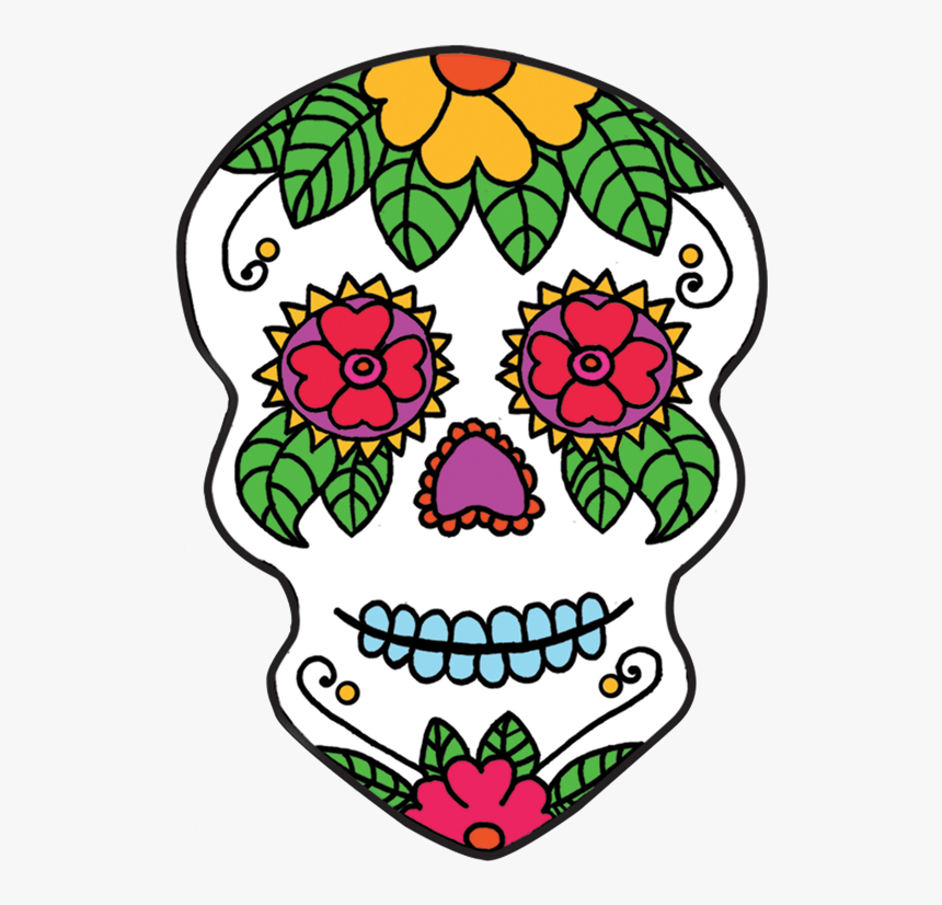 Sugar Skull Clipart Transparent Background - Day Of The Dead Skull No Background, HD Png Download, Free Download