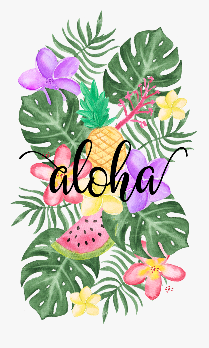 Tropical Floral Vibes Wallpaper Hd Png Download Kindpng
