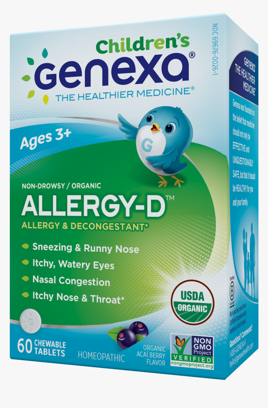 "Children""s Organic Allergy & Decongestant, Organic - Best Allergy Medicine For Kids, HD Png Download, Free Download"