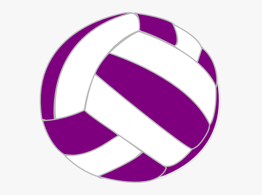 Purple And White Volleyball, HD Png Download, Free Download