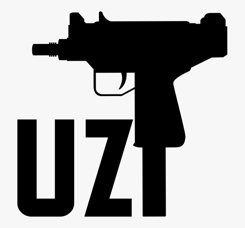 Air-gun - Black Uzi Png, Transparent Png, Free Download