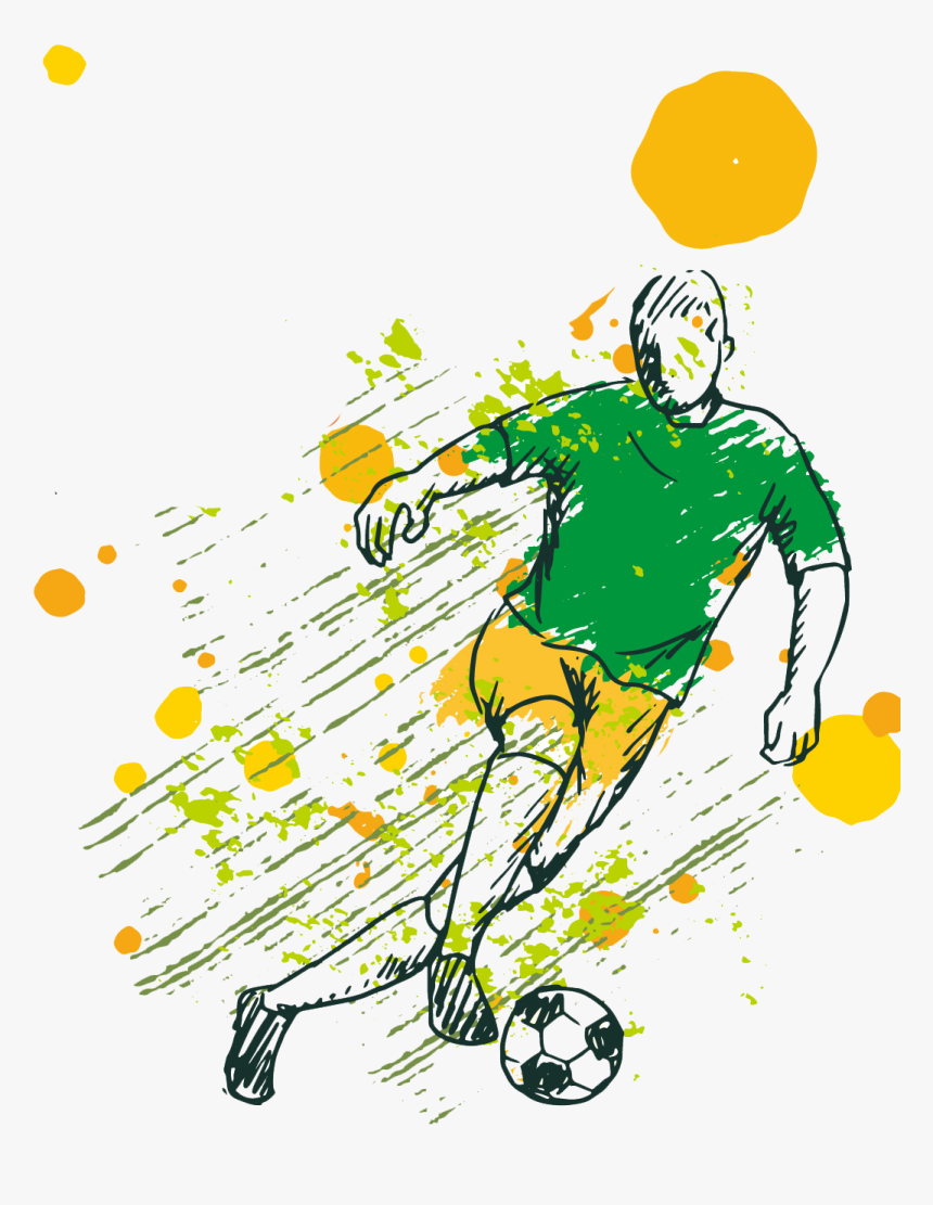Soccer Game Background With Player Free Vector Vector, - Vector Sport Logo Png, Transparent Png, Free Download