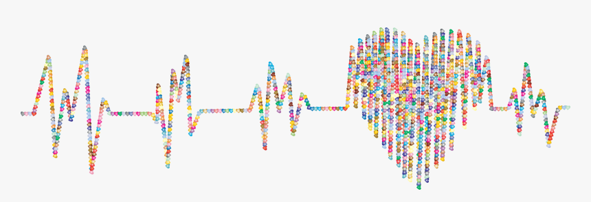 Prismatic Hearts Electrocardiogram 2 Clip Arts - Graphic Design, HD Png Download, Free Download