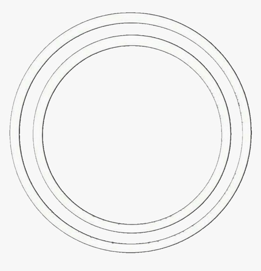 Circle Circles Overlay Overlays Icon Tumblr Aesthet - White Circle Overlay, HD Png Download, Free Download