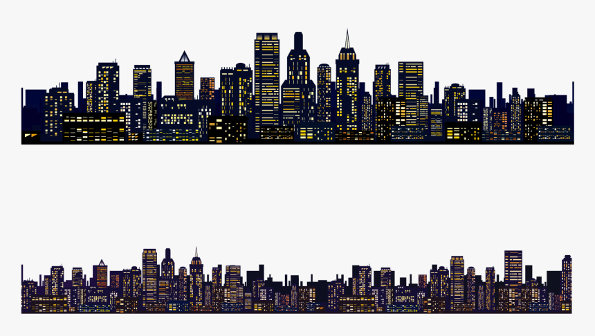 Clip Art New York City Night Skyline City Skyline Transparent Background Hd Png Download Kindpng