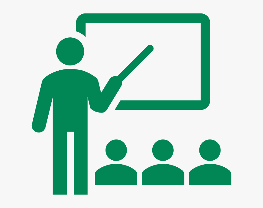 An Icon Representing A Teacher In Front Of A Blackboard - New Way To Solve Quadratic Equation, HD Png Download, Free Download