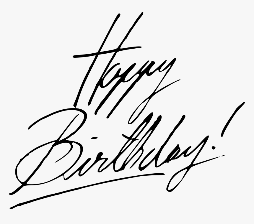 Happy Birthday Handwritten Calligraphy Vector 3 - Calligraphy, HD Png Download, Free Download