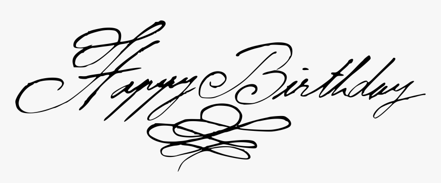 Happy Birthday Handwritten Calligraphy Vector 6 - Calligraphy, HD Png Download, Free Download