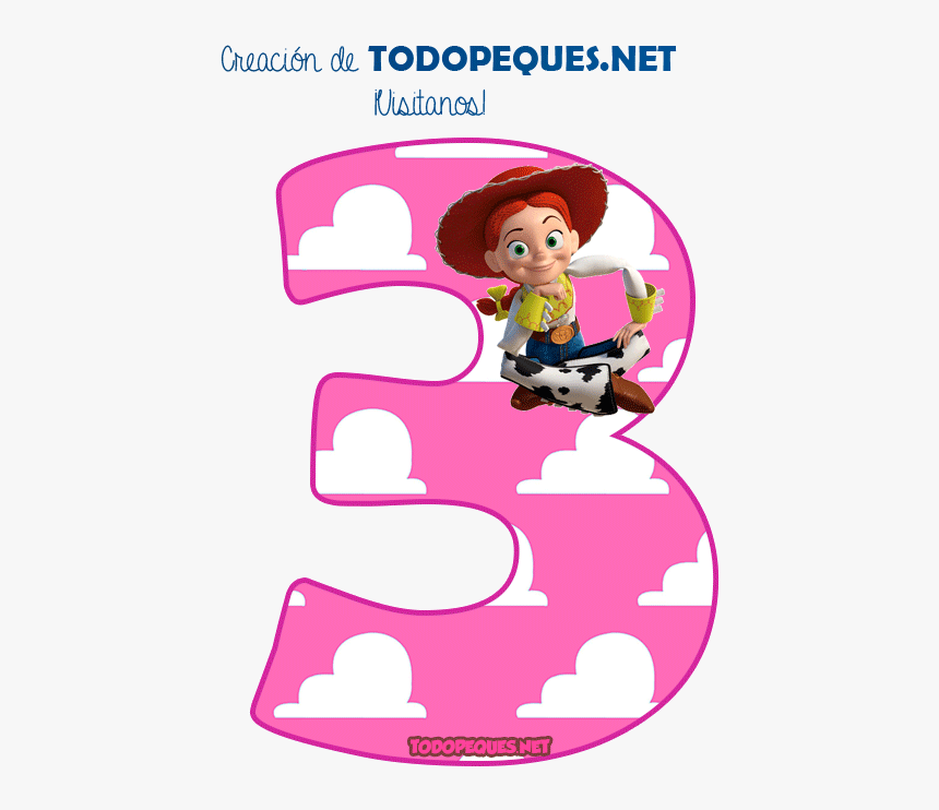 Numero 4 De Jessie Toy Story, HD Png Download, Free Download