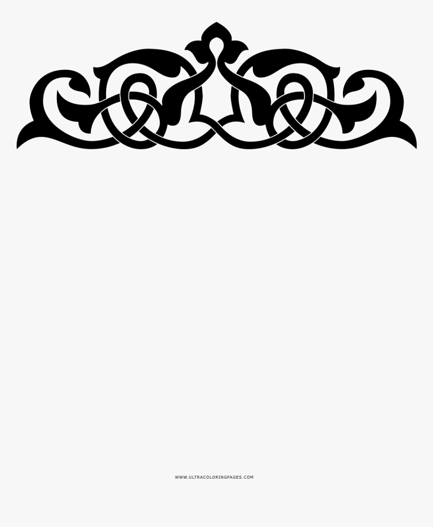 Ornament Coloring Page Viking Knot Tribal Hd Png Download Kindpng