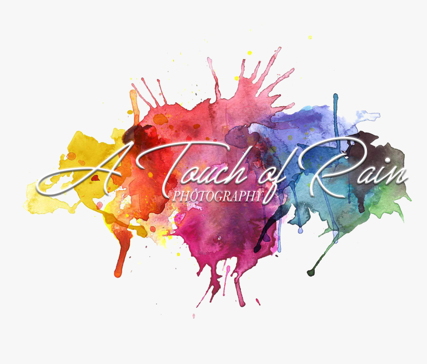 A Touch Of Rain Photography - Transparent Background Watercolor Splatter Png, Png Download, Free Download