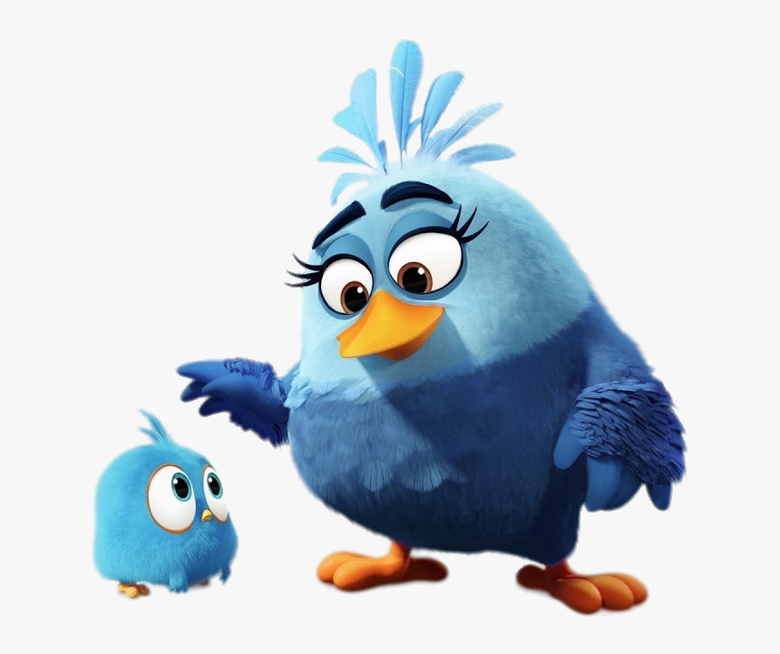 Angy Bird Blue Jay With Mum Angry Birds Blues Mom Hd Png Download Kindpng