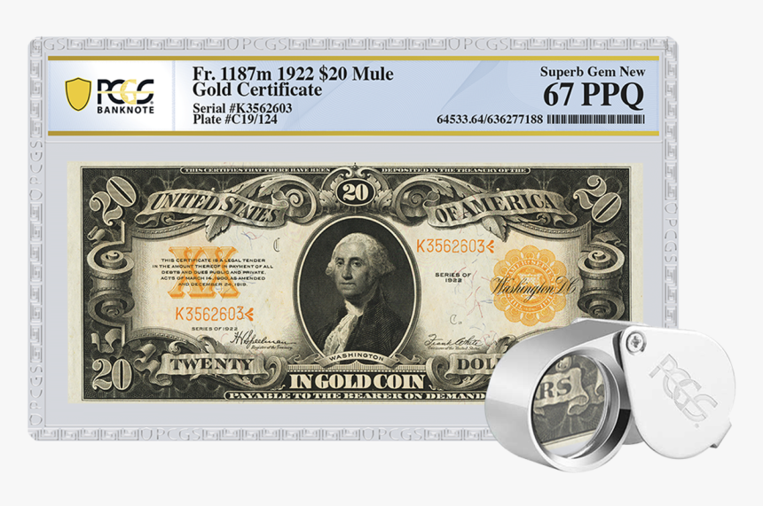 United States Gold Certificate 20 Dollars, HD Png Download, Free Download