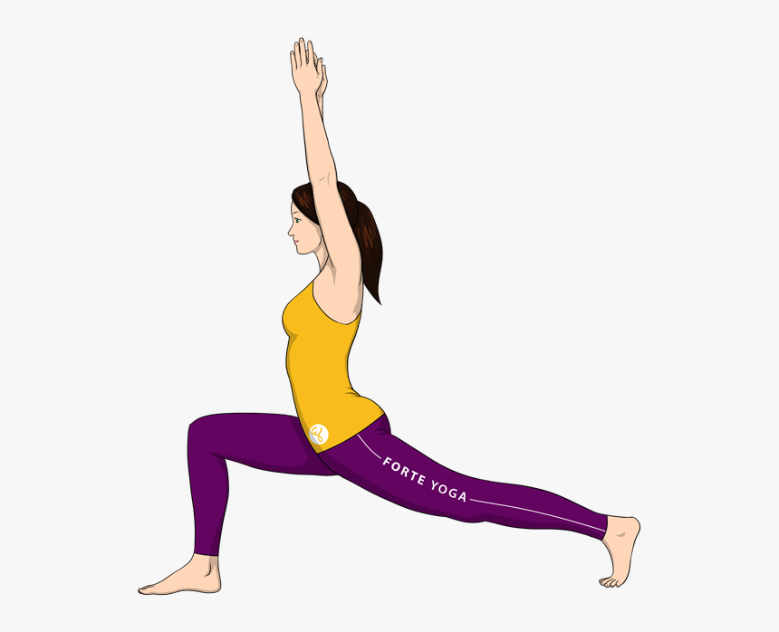 Standing Yoga Poses Png High Lunge Pose Transparent Png Kindpng