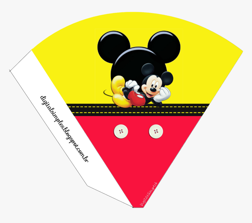 Kit Aniversário De Personalizados Tema Mickey Mouse - Minnie Mouse Circle Stickers Red, HD Png Download, Free Download
