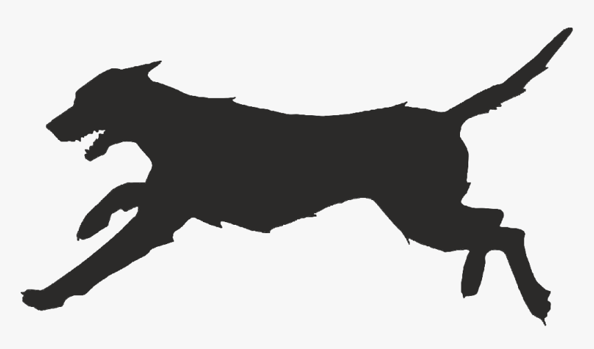 Silhouette Png Download - Running Dog Vector, Transparent Png, Free Download