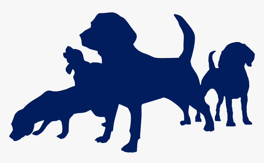 Beagle Clipart , Png Download - Dog Silhouette Navy Blue Png, Transparent Png, Free Download