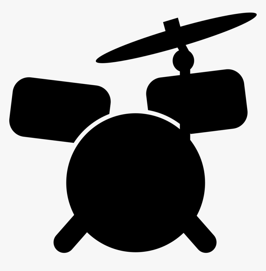 Drum Set Cartoon Variant - Drumset Cartoon, HD Png Download, Free Download