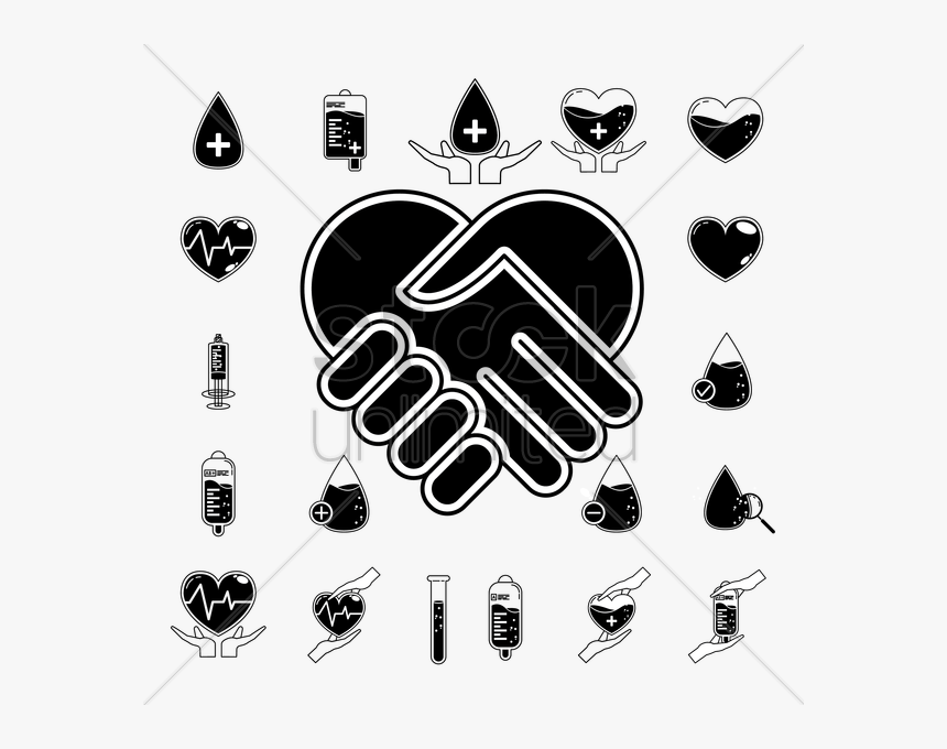 Heart Handshake Clipart Heart Handshake - Handshake, HD Png Download, Free Download