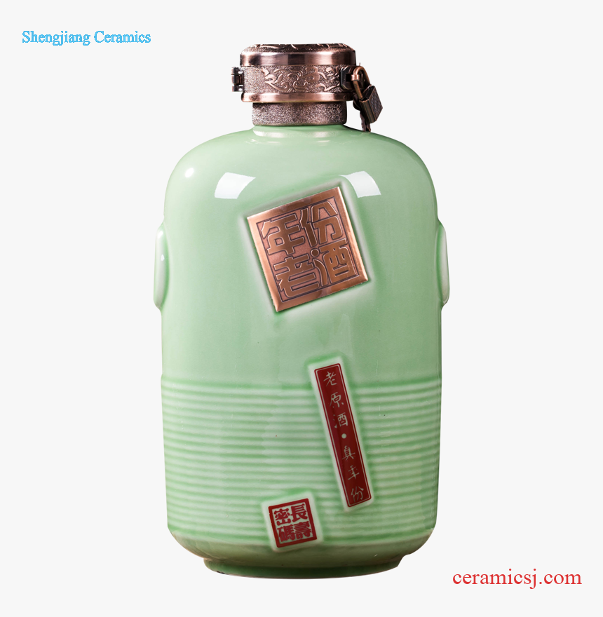 Jingdezhen Ceramic Bottle 5 Jins Of Creative Household - Glass Bottle, HD Png Download, Free Download