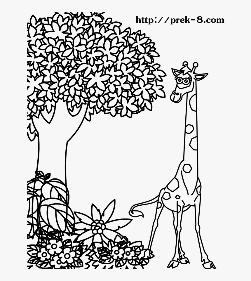 Transparent Jungle Gym Clipart - Tree Animal Coloring Pages, HD Png Download, Free Download