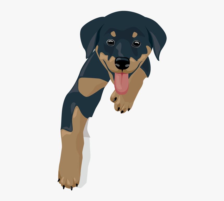 Kawaii Dog Clipart Clipart Library Stock Husky Clipart - Kawaii Rottweiler, HD Png Download, Free Download