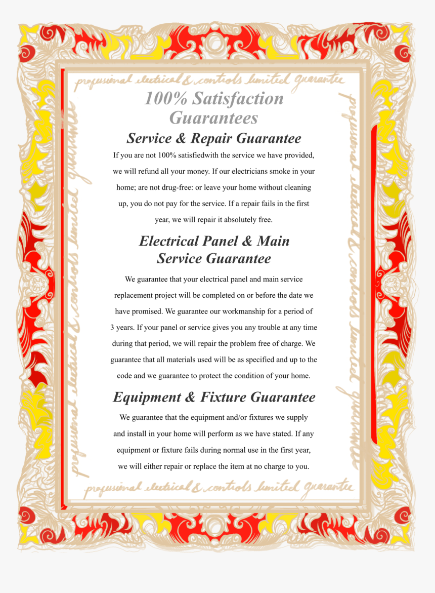Professional Electrical 100% Satisfaction Guarantees - Alice Walker Poems, HD Png Download, Free Download