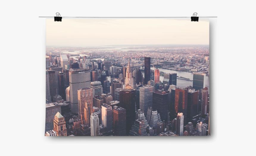 Birds Eye View New York City Skyline - Wordpress Drone Photography Theme, HD Png Download, Free Download