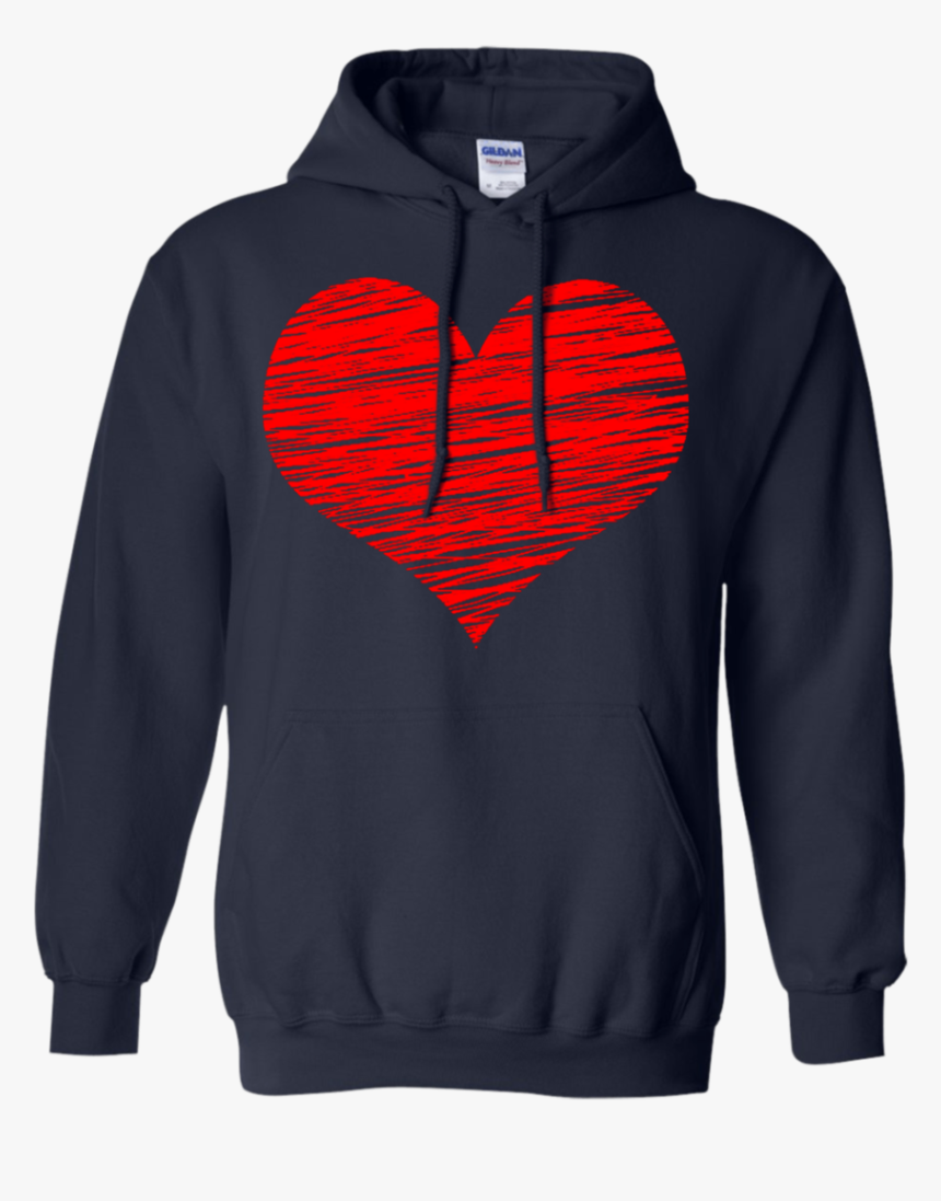 Valentines Day Shirt Red Glitter Heart T Shirt - Hoodie, HD Png Download, Free Download