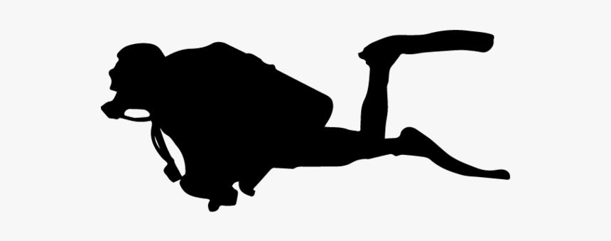 Diver Background Transparent - Scuba Diver Silhouette Png, Png Download, Free Download