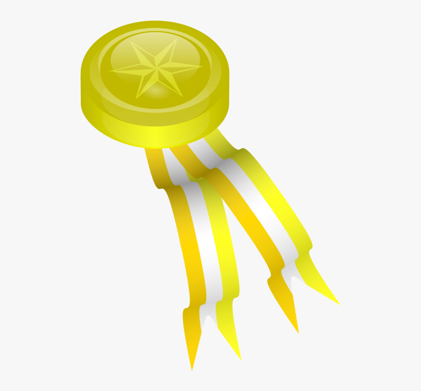 Yellow,medal,gold Medal - Gold Medal Clip Art, HD Png Download, Free Download