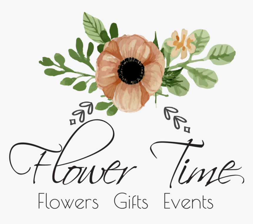 Transparent Flower Vase With Flowers Photography Png - Flower Time Logo, Png Download, Free Download