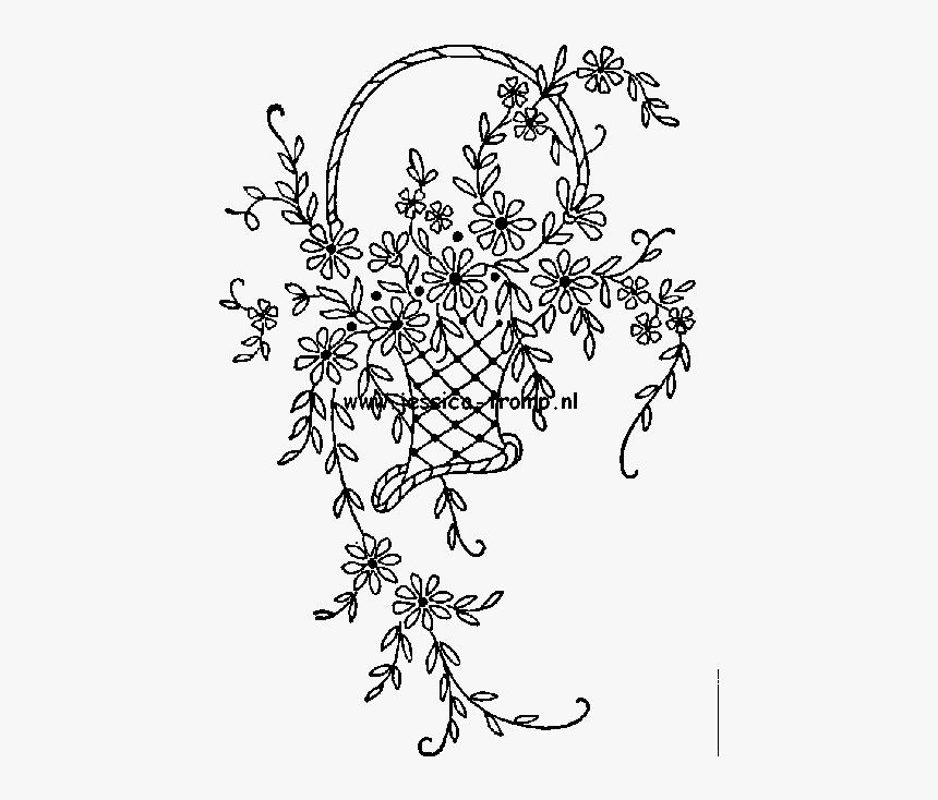 Embroidery Drawing Design Flower Basket Design For Embroidery Hd Png Download Kindpng,1920s Interior Design Australia