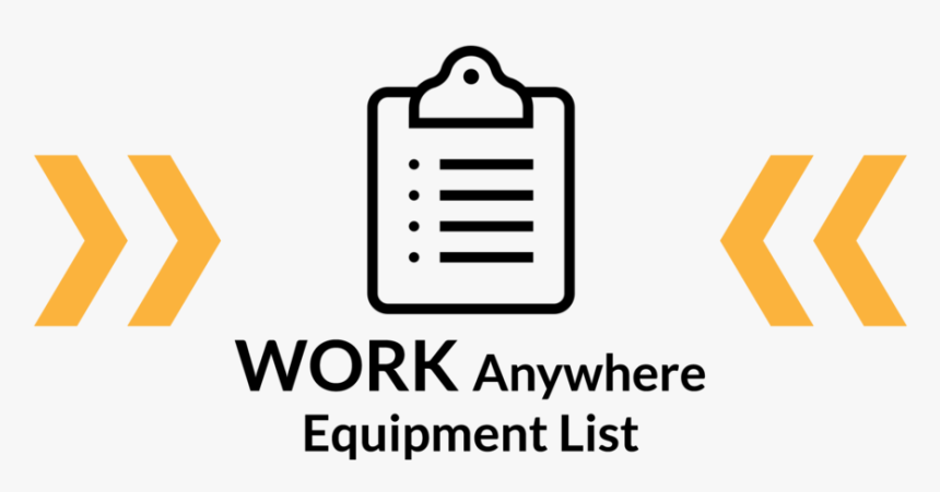 Wa Equipment List Black Copy With Arrows, HD Png Download, Free Download