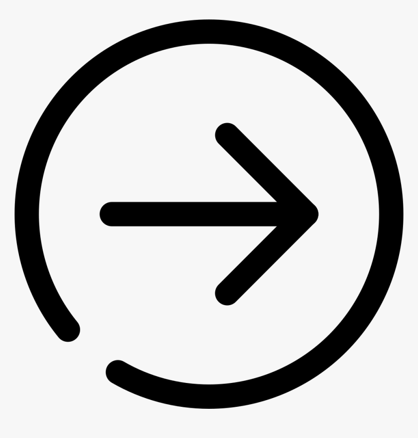 Circle Arrow Right - Png White Icon File Add, Transparent Png, Free Download