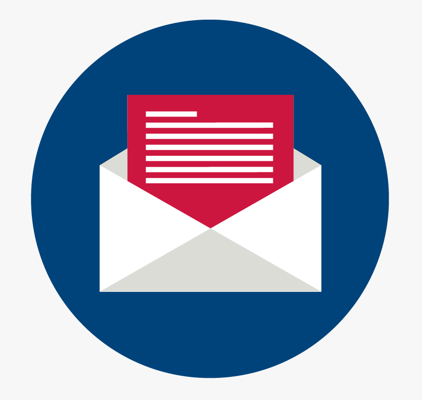 Epic Newsletter Icons Mail - Circle, HD Png Download, Free Download