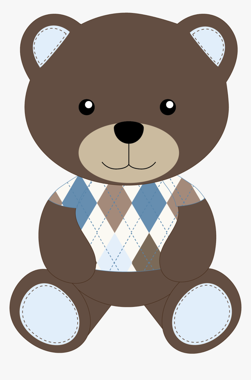 Brown Bear Clipart Oso - Cute Baby Teddy Bear Clipart, HD Png Download, Free Download