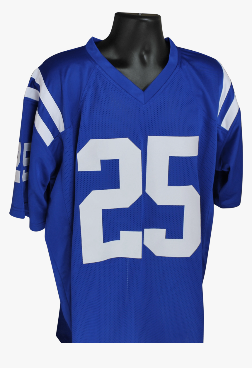 Marlon Mack Autographed Colts Blue Custom Jersey W/jsa, HD Png Download, Free Download