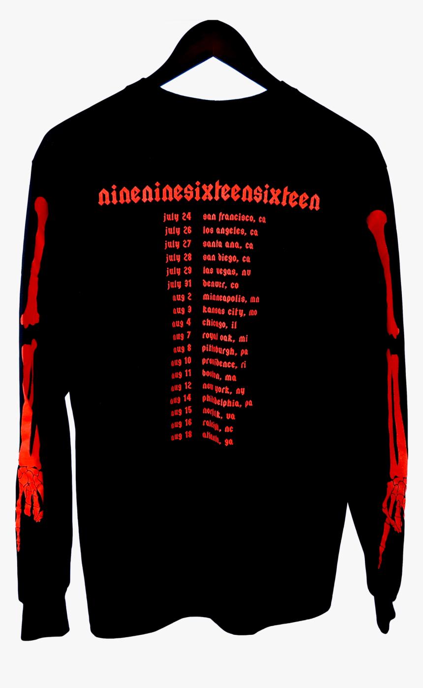 Playboi Carti Die Lit Tour Skeleton Long Sleeve Long Sleeved T Shirt Hd Png Download Kindpng