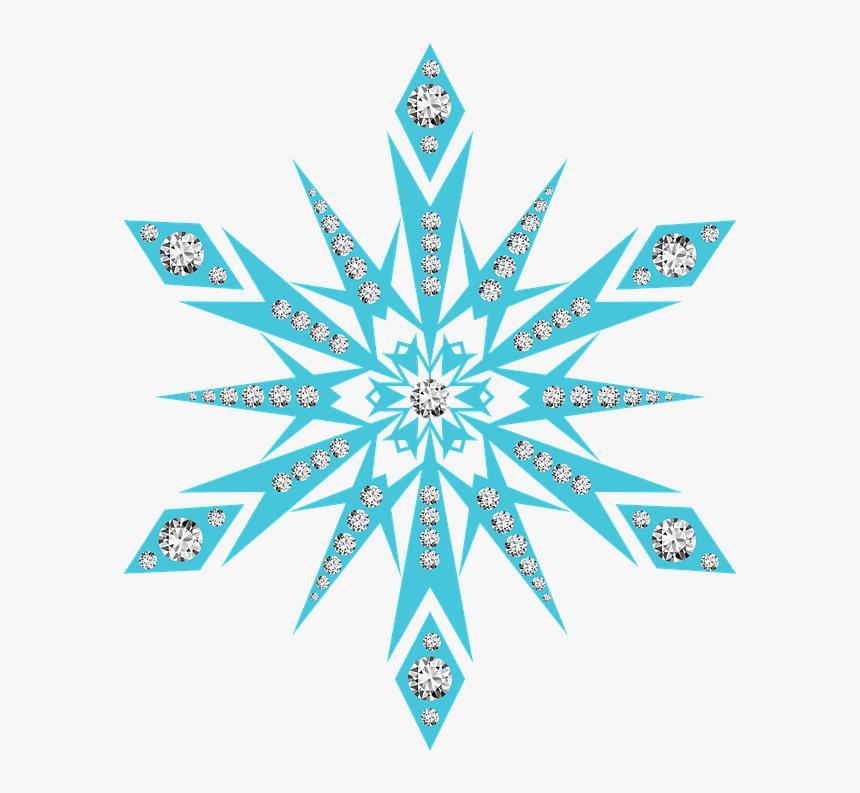 Snow Flake, Snowflake, Diamonds, Snowing, Snow - Transparent Background Frozen Snowflake, HD Png Download, Free Download