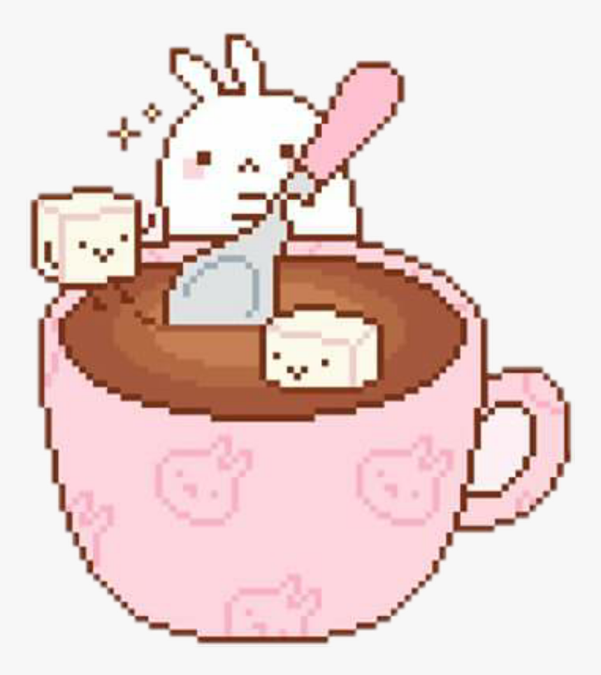 Cute Coffee Pixel Art, HD Png Download, Free Download
