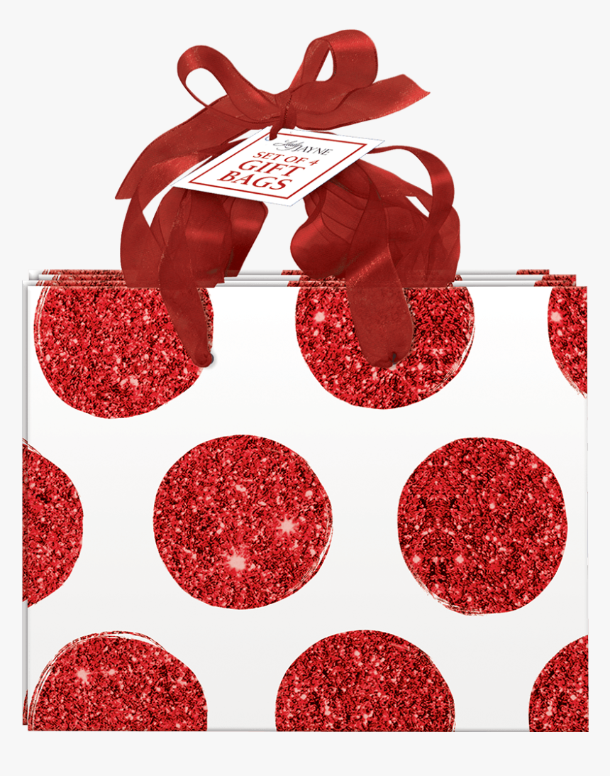 Red Bold Dot Small Gift Bags - Earrings