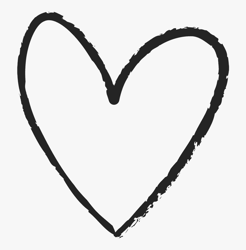 Hand Drawn Heart Rubber Stamp - Hand Drawn Heart Icon, HD Png Download, Free Download