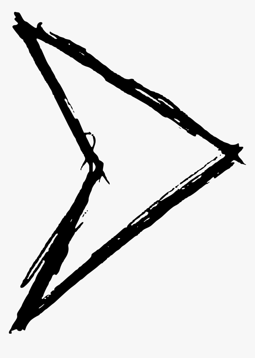 Hand Drawn Arrow - Illustration, HD Png Download, Free Download