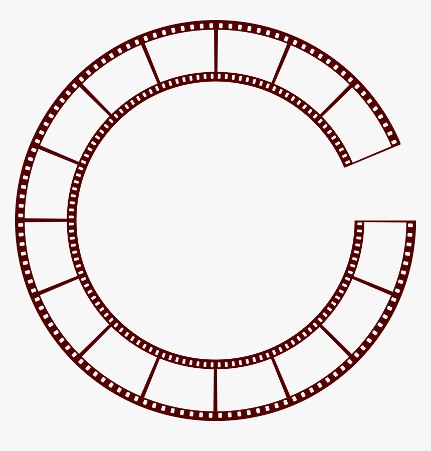 Film Strip Png Vector Black And White Library - Film Strip Circle Vector, Transparent Png, Free Download