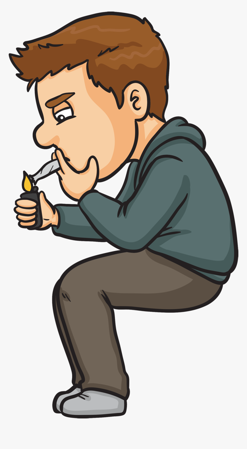 Buy Best Weed Accessories Wrangell Ak - Cartoon Guy Smoking Weed, HD Png Download, Free Download