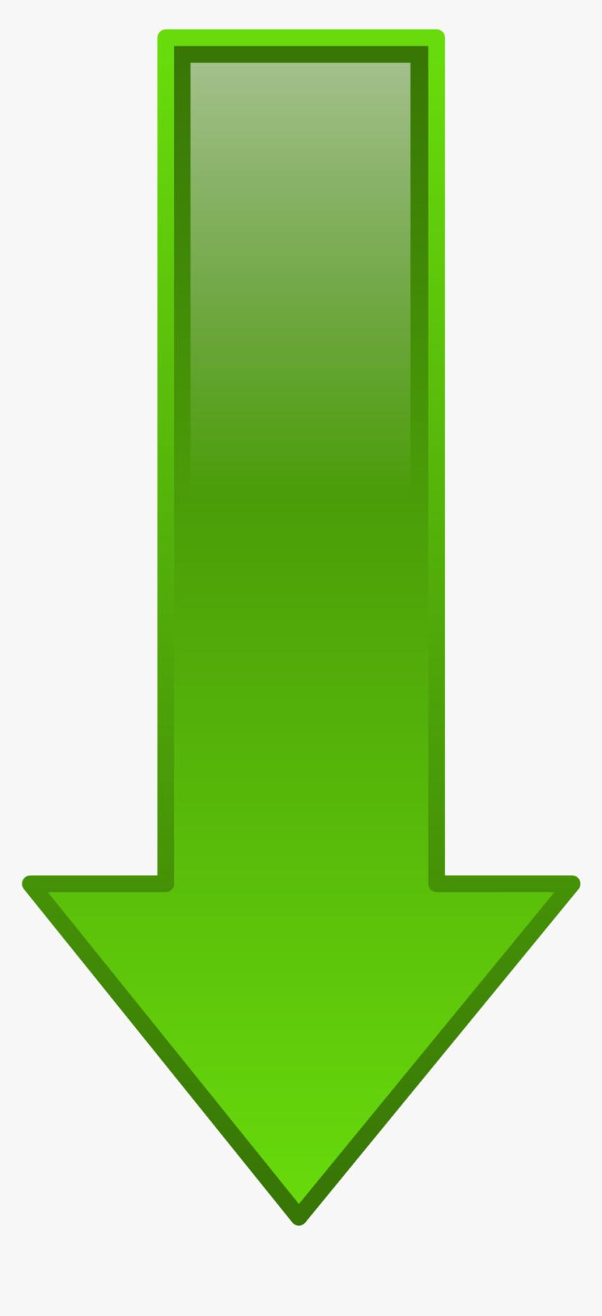 Arrow Down Green - Green Arrow Down, HD Png Download, Free Download