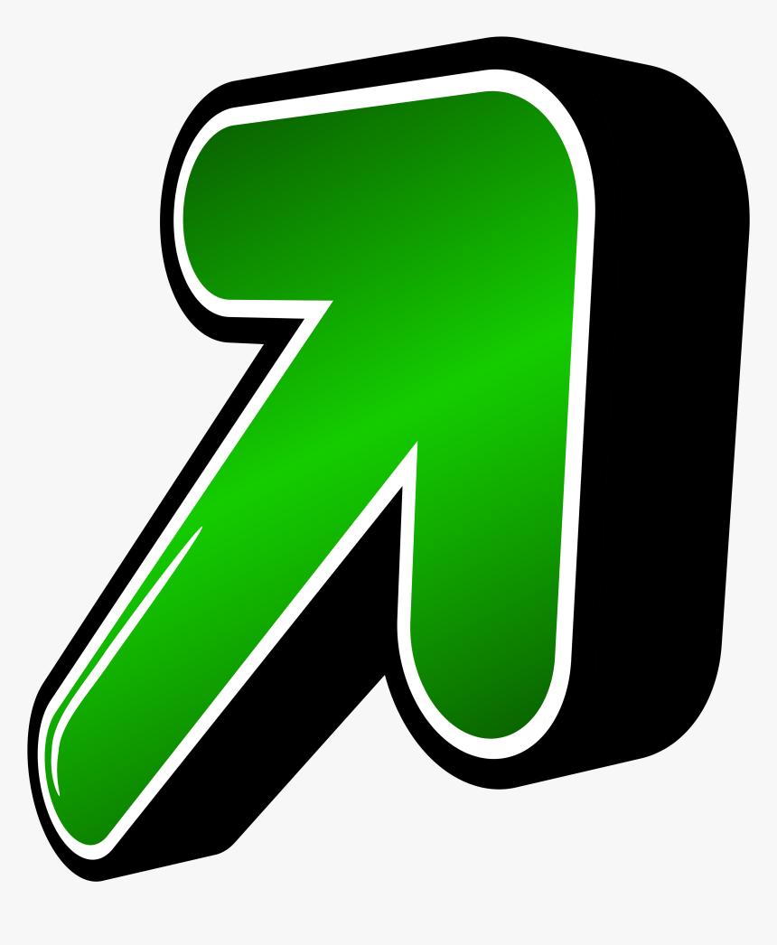 Transparent Arrow Clipart Png - 3d Arrow Png Green, Png Download, Free Download