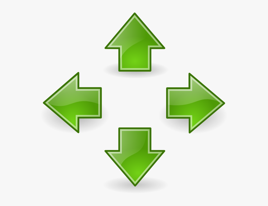 Green Arrows Svg Clip Arts - Arrows Pointing Up Down Left Right, HD Png Download, Free Download